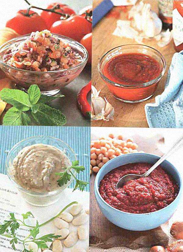 Соусы к первым и вторым блюдам в пароварке
