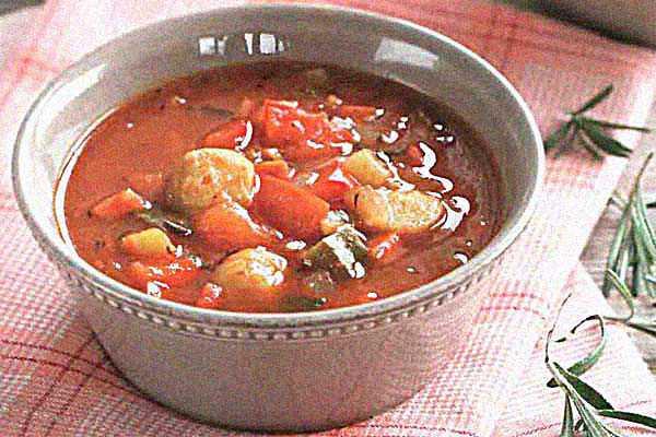 Суп с перцем и брюссельской капустой